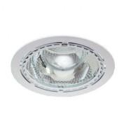 Светильник Down light 226 01 01 2х26W E27 круглый встр. со стеклом под комп. люмин. лампу с ПРА белый