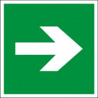 Наклейка Эвакуационный знак Направление движения к выходу (150х300)