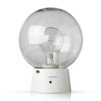 Светильник ЖКХ-04 под лампу ЛОН 60w с оптико-акуст. датчиком и ключом, прозрачный Аргос-Трейд (уп/24шт)